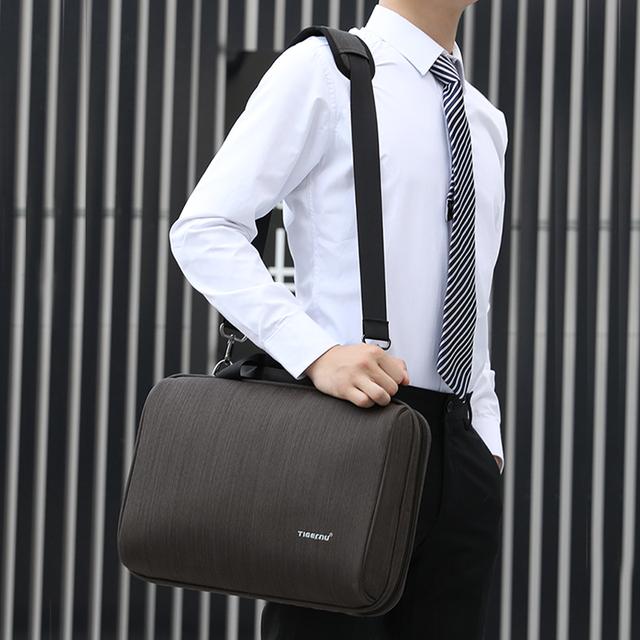 Tigernu Men Business Handbag Messenger Bag Fits 13.1″Laptop Bag Male Casual Travel Shoulder Bag Men's Briefcases 300D Oxford