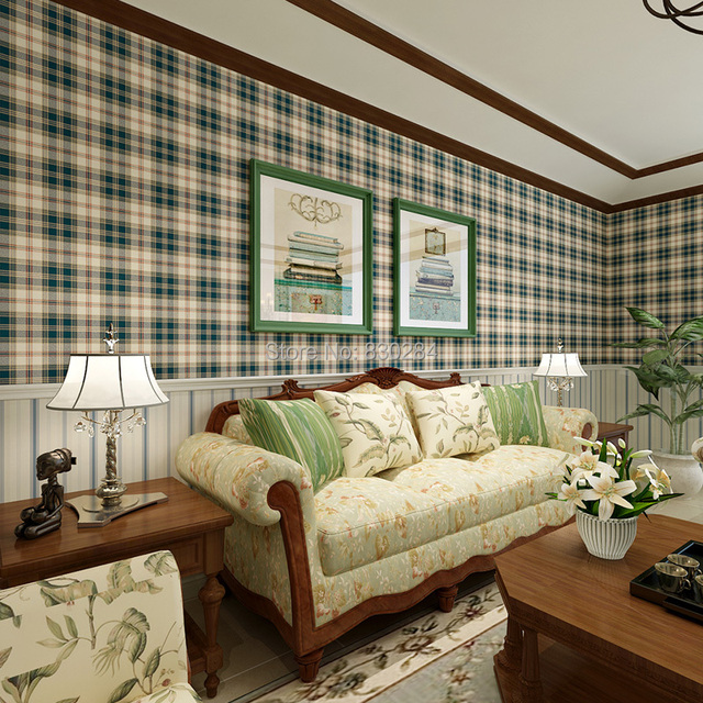 Wallpaper for country style living room modern home for Living room paper