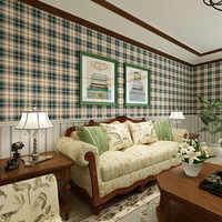 カントリースタイルスコットランド格子縞の壁紙ヴィンテージ純粋な紙ウォールペーパー用リビングルームグリッドの壁紙papelデparede