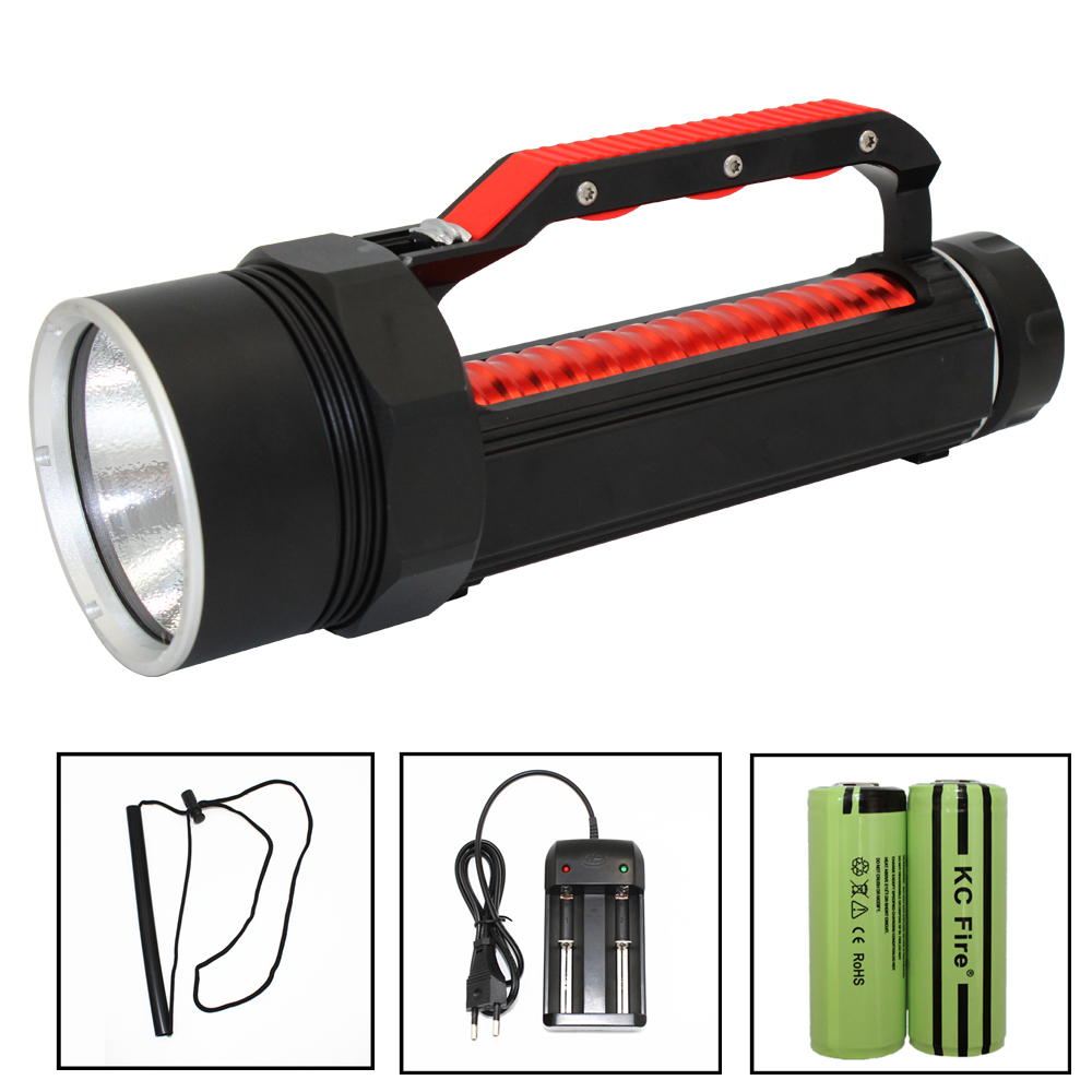 Scuba Diving Flashlight LED XHP70 3900 Lumens 26650 Powerful Underwater Flashlight Torch Linterna Magnetic switch