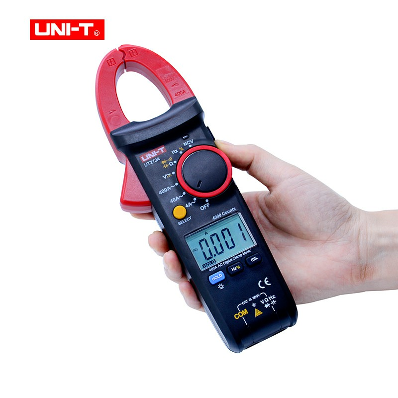 UNI-T UT213A True RMS 400A Digital Clamp Meter AC/DC/Resistance/Capacitance/Frequency/ Clamp Digital Multimeter uni t ut203 400a ac dc digital clamp meter resistance frequency test duty cycle relative measurement digital hold auto shutdow