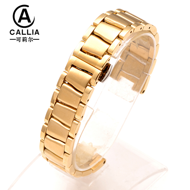 18MM High Quality Stainless Steel Watchbands For LADYMATIC metal watch bracelets For Ladies watch straps Rose Gold Golden kcchstar the eye of god high quality 316 titanium steel necklaces golden blue