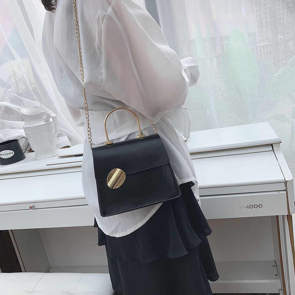 Das Senhoras Das mulheres Sacos do Mensageiro Coringa bolsa de Ombro Cadeia de Moda Simples Pequeno Quadrado Saco bolsos mujer femme sac a principal de marque soldes