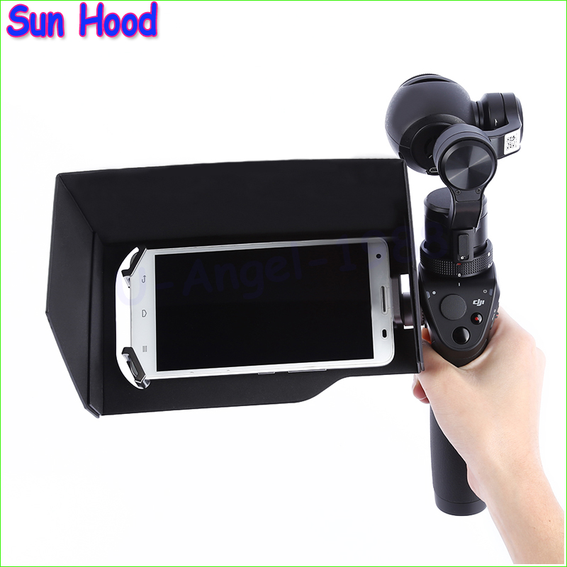 Wholesale 1pcs 5.5 inch LCD Monitor Sun Hood Shade Visor Cover for  OSMO Handheld Gimbal 1 pc phone hood monitor hood for rc monitor drone phone shading sun accessories