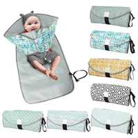 3-in-1 Multifuctional Baby Changing Mat Waterproof Portable Infant Napping Changing Cover Pads Travel Outdoor Baby Diaper Bag
