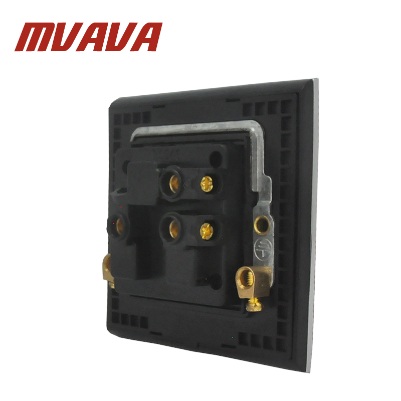 MVAVA 15A 16A South Africa Socket Luxury Brushed Silver Metal South Africa Wall Socket Silver Satin Metal Socket FREE SHIPPING in Electrical Sockets from Home Improvement