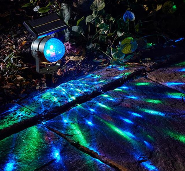Outdoor Disco Lights Solar power led spotlight rotating rgb outdoor garden yard lawn solar power led spotlight rotating rgb outdoor garden yard lawn decoration lamp effect disco lights for workwithnaturefo