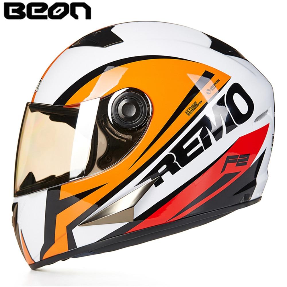 цена на European BEON Full Face Motorcycle Helmet B50089 Moto Casque Casco motocicleta Capacete Kask Scooter helmets Chrome Visor