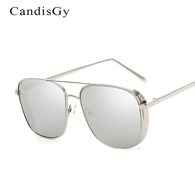 ccd3b12506 Hipster Square Sunglasses Women Men Mirror 2017 New Brand Designer Lady  Female Luxury Sun glasses UV400 Steam Punk
