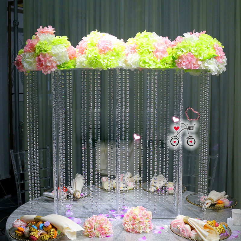 Free Shipping Crystal Flower Stand Wedding Table Centerpiece