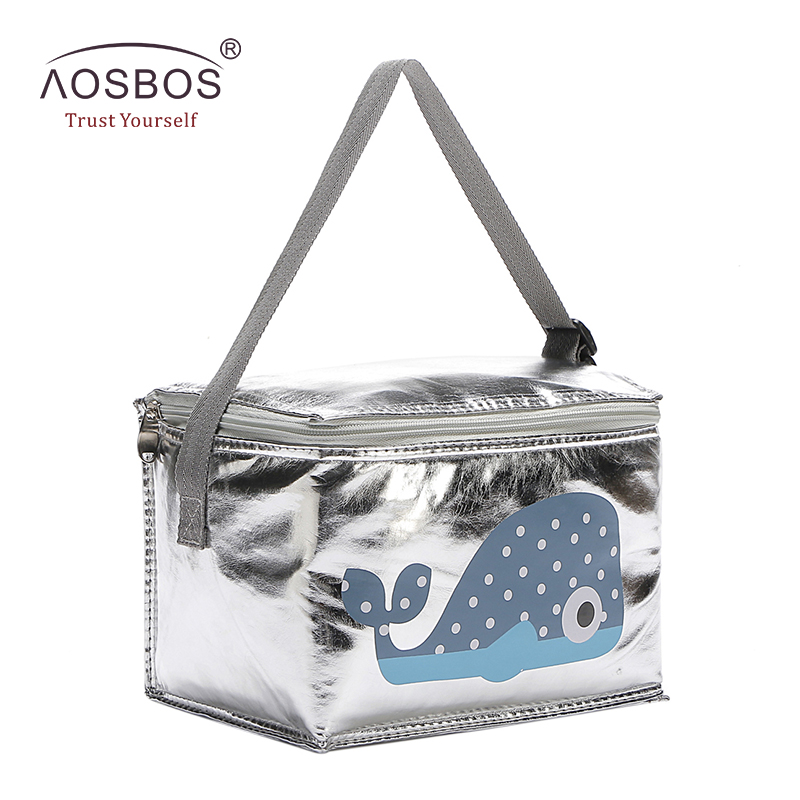 Aosbos 6L Lunch Bags Cartoon Animal Thermal Lunch Bag Food Picnic Storage Tote Bags Insulated Cooler Bags termo comida caliente aequeen thermal lunch bag for kid cute flamingo picnic boxes canvas cartoon animal printing food cooler bags insulated tote