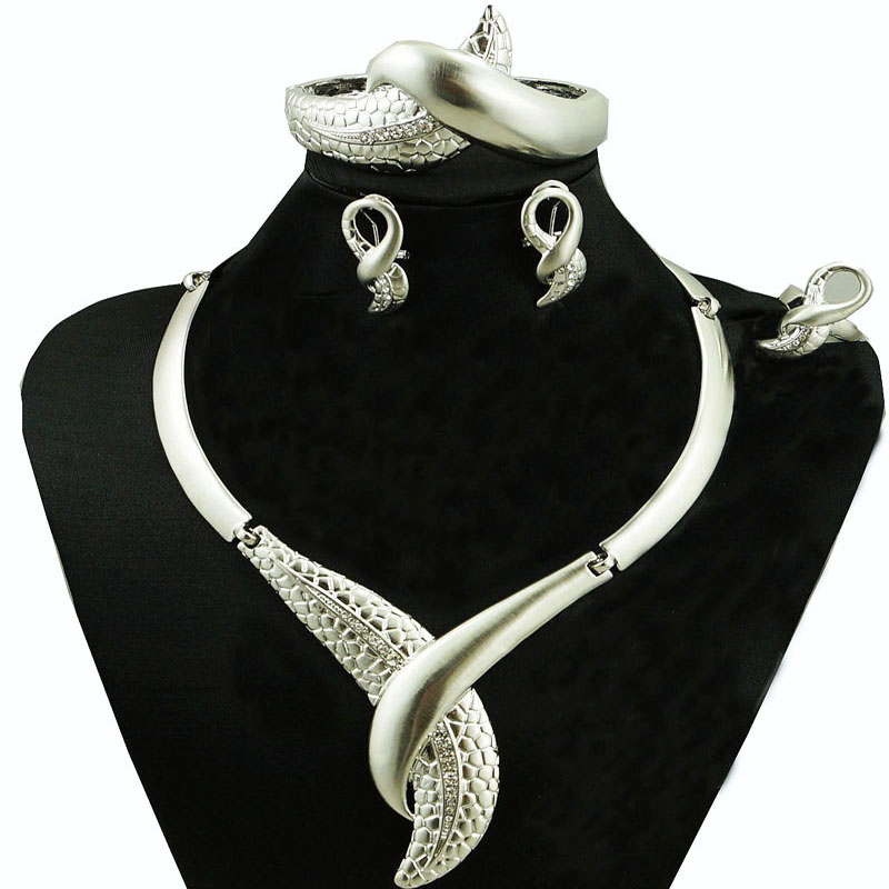 silver plated jewelry sets african wedding jewelry sets fashion - Fashion Jewelry