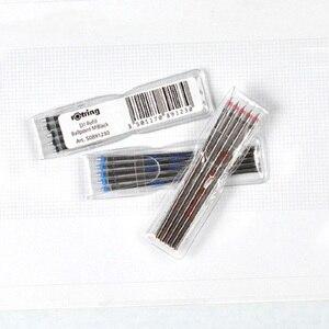 Image 4 - Klasyczne niemcy oryginalny rotring długopis refill wielofunkcyjny długopis wkłady niebieski czarny czerwony 5 sztuk/partia
