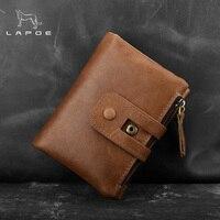 LAPOE 2018 NEW Men Wallet Genuine Leather Portfolio Brand Designers Male Clutch Wallet Money Pocket Multifunctional Coin Purse