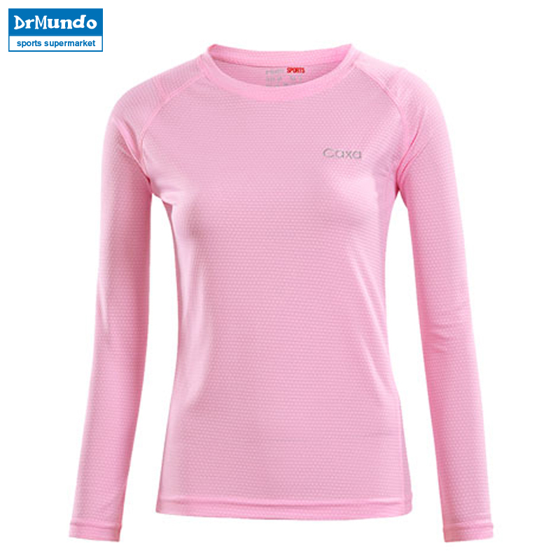 Women Outdoor Sport Quick Dry Breathable Anti-Pilling Long Sleeve Yoga T Shirt Female Black Running Hiking T-shirt Brand