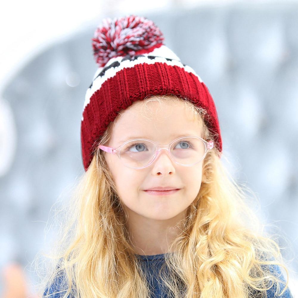 1pc Boys Girls Children Cap Cotton Letter Knitted Ball Winter Warm Hats no24