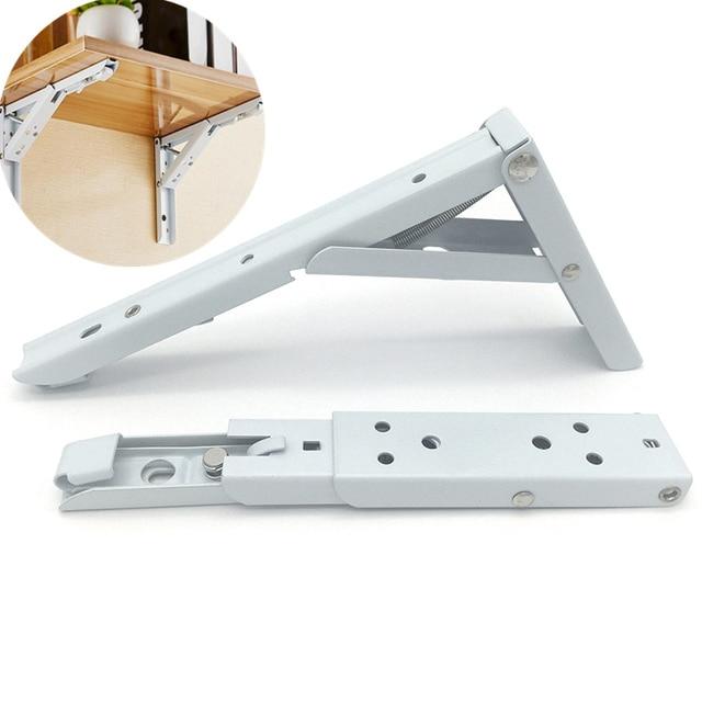 1set=2pcs 8-12 Inch 90 degree folding Wall bracket Adjustable Table support shelf storage rack stand Hardware furniture