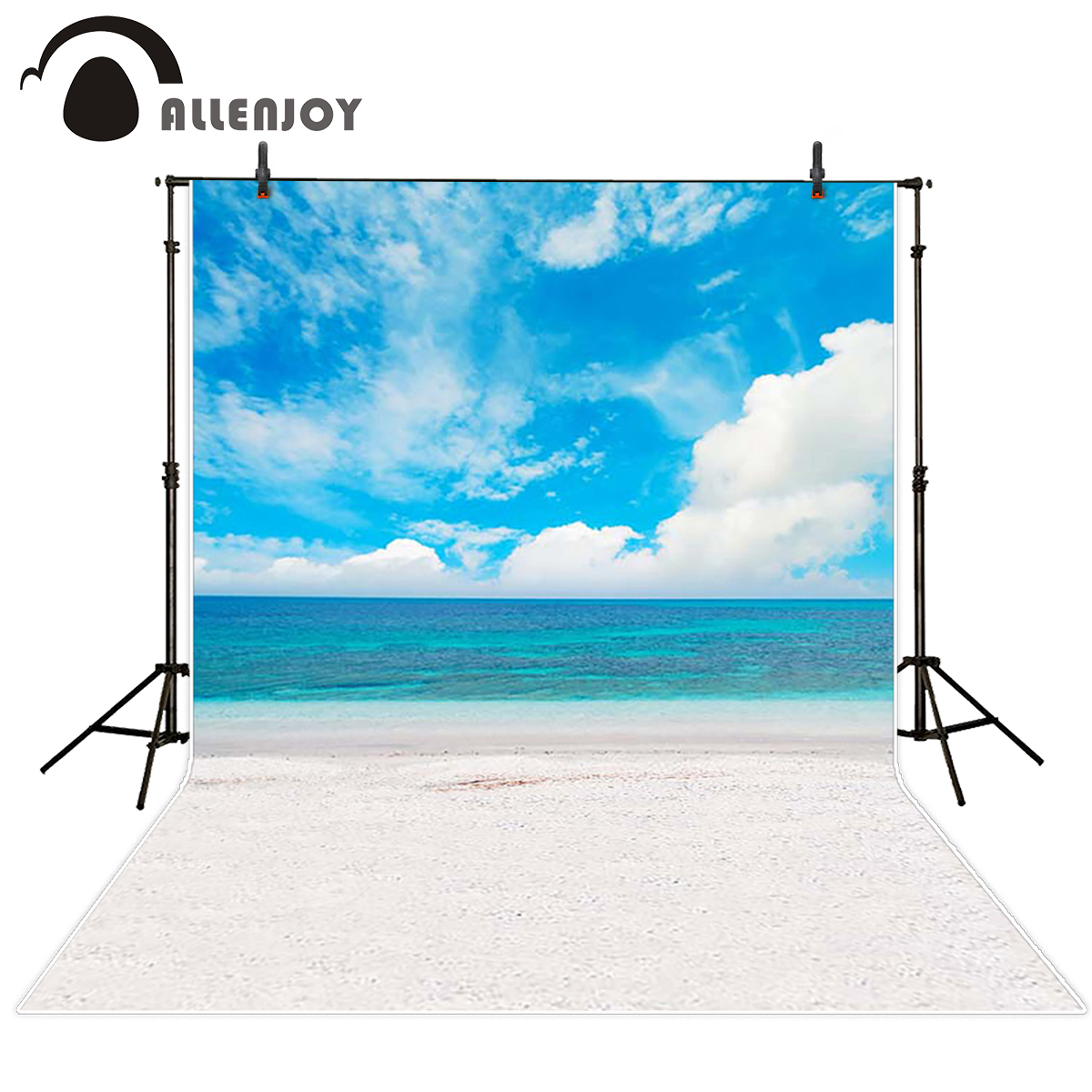 Allenjoy scenery photo backdrop Coral sand blue sea and sky backgrounds for photo studio photography background photocall