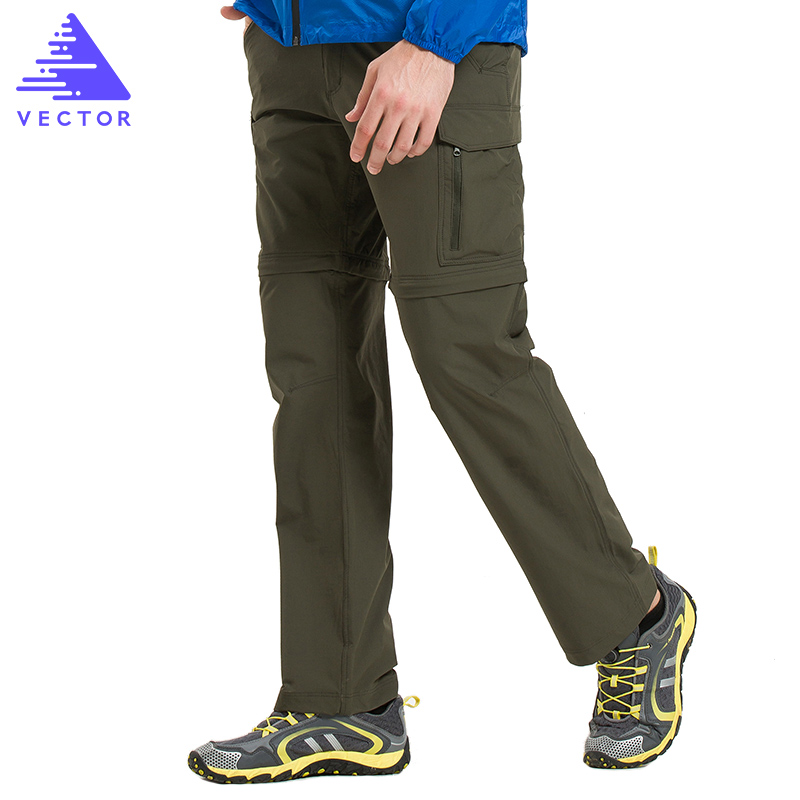 VECTOR Quick Dry Pants Men Summer Breathable Camping Hiking Trousers Removable Trekking Hunting Hiking Pants Hiking Shorts 50021