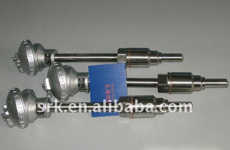 K Тип термопары с 1/2NPT, SS 304 оболочка, 0-1000C диаметр; 6 мм, длина: 200 мм, быстрая