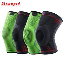 Kuangmi 1 шт. наколенники компрессионные сохраняет тепло защита колена поддержка эластичная спортивная защита волейбол варикозное расширение вены рукав
