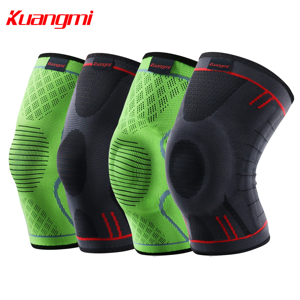 Kuangmi knee pads knee support for Sports Basketball Volleyball Kneepads Running Knee Brace Patella Protector Elastic Sleeve