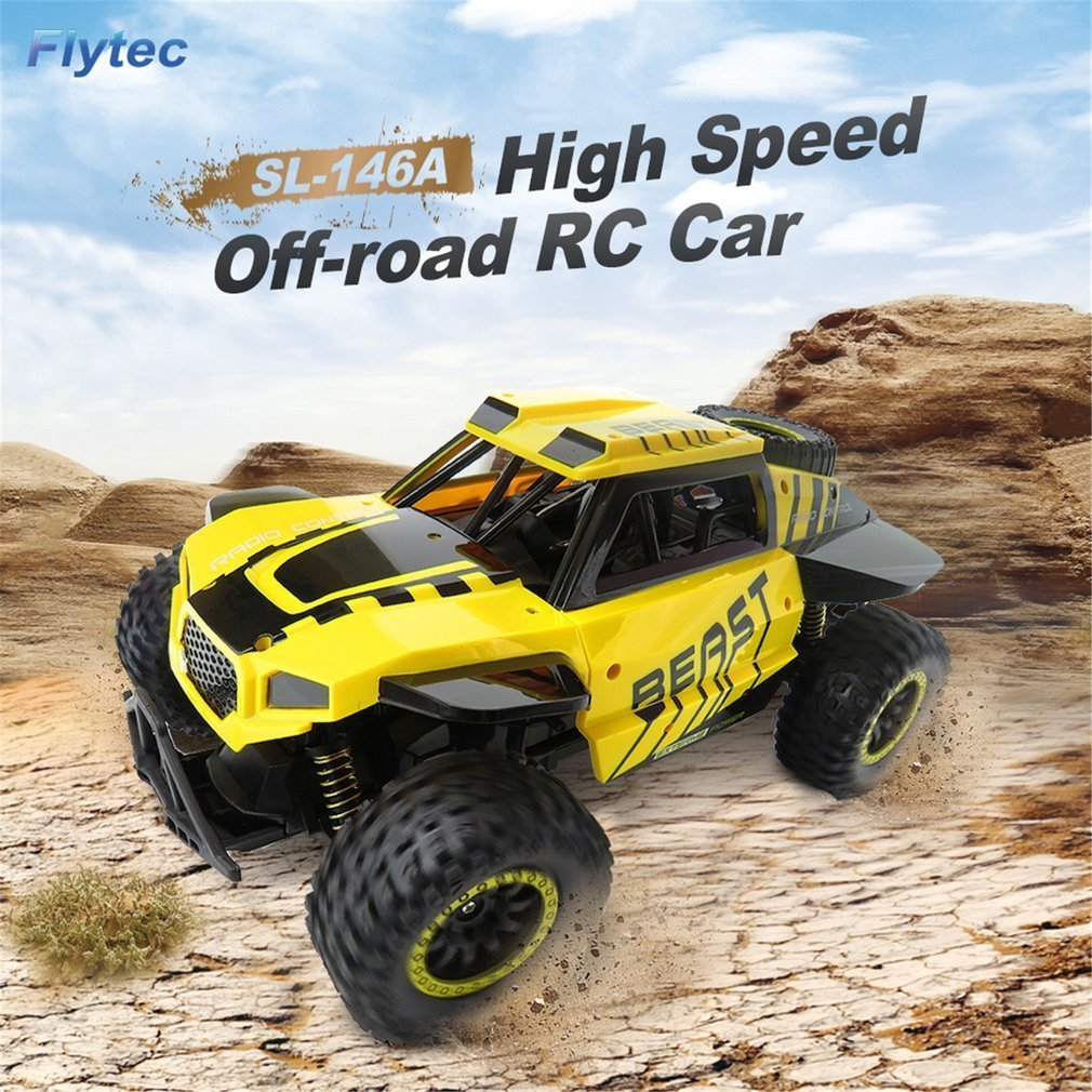 Flytec SL-146A1/18 Scale 2.4Ghz 4WD 30km/h High Speed RC Crawler Climber Buggy Off-Road Rock RC Remote Control Car RTR hongnor ofna x3e rtr 1 8 scale rc dune buggy cars electric off road w tenshock motor free shipping