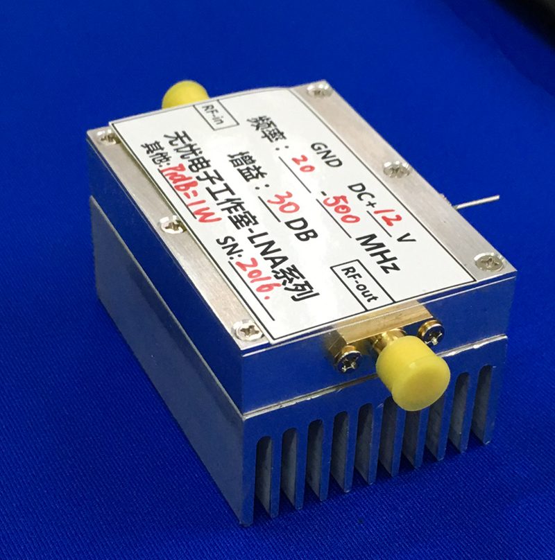 New 20MHz-500MHZ 1W Amplifier HF FM VHF UHF FM Transmitting Broadband RF Power Amplifier стоимость
