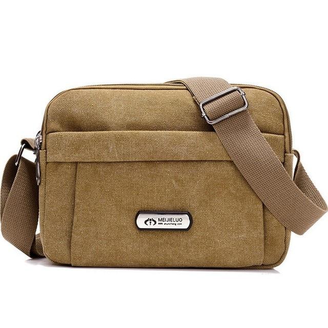 faf8fba31c Casual Men Canvas Shoulder Bags Korean Male Single Handle Light Messenger  High-capacity Zipper Bag