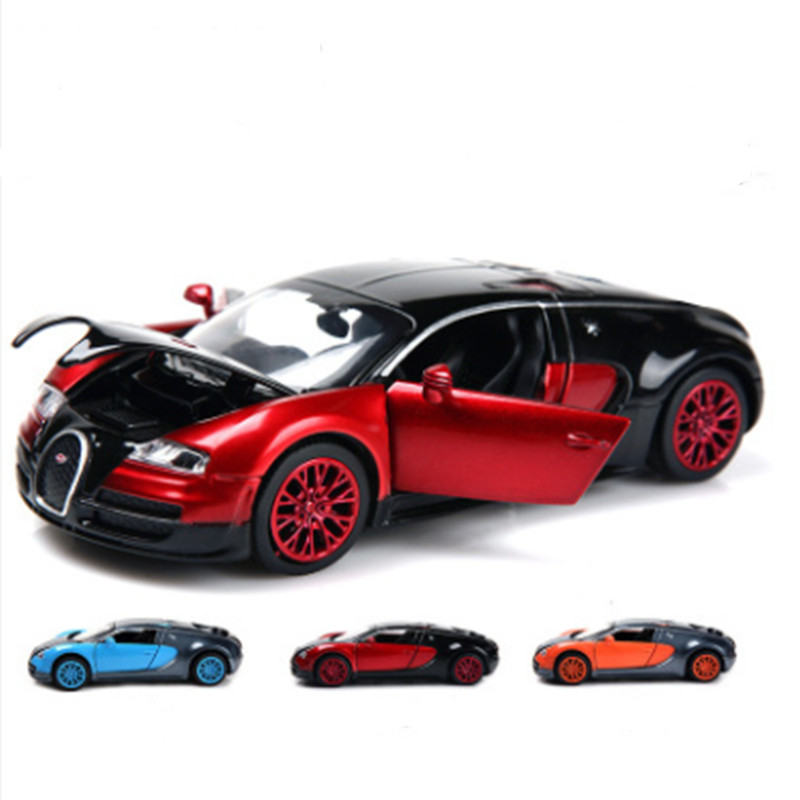 aliexpresscom buy new mini auto 132 free shipping bugatti veyron alloy car models kids toys for children metal soundlightpull classical cars from
