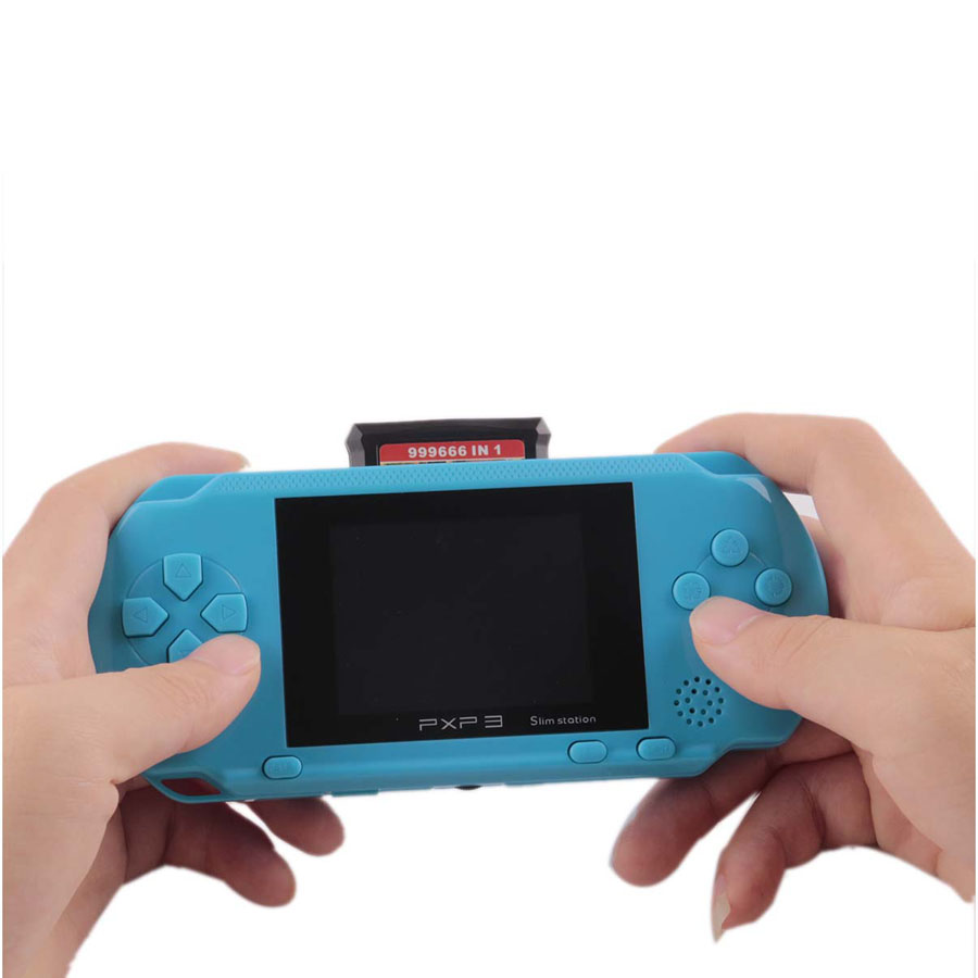 16 Bit Portable Game Console PXP3 Handheld Video Game Player With 2 Game  Cards Joystick Slim Station Classic Child Game Consoles