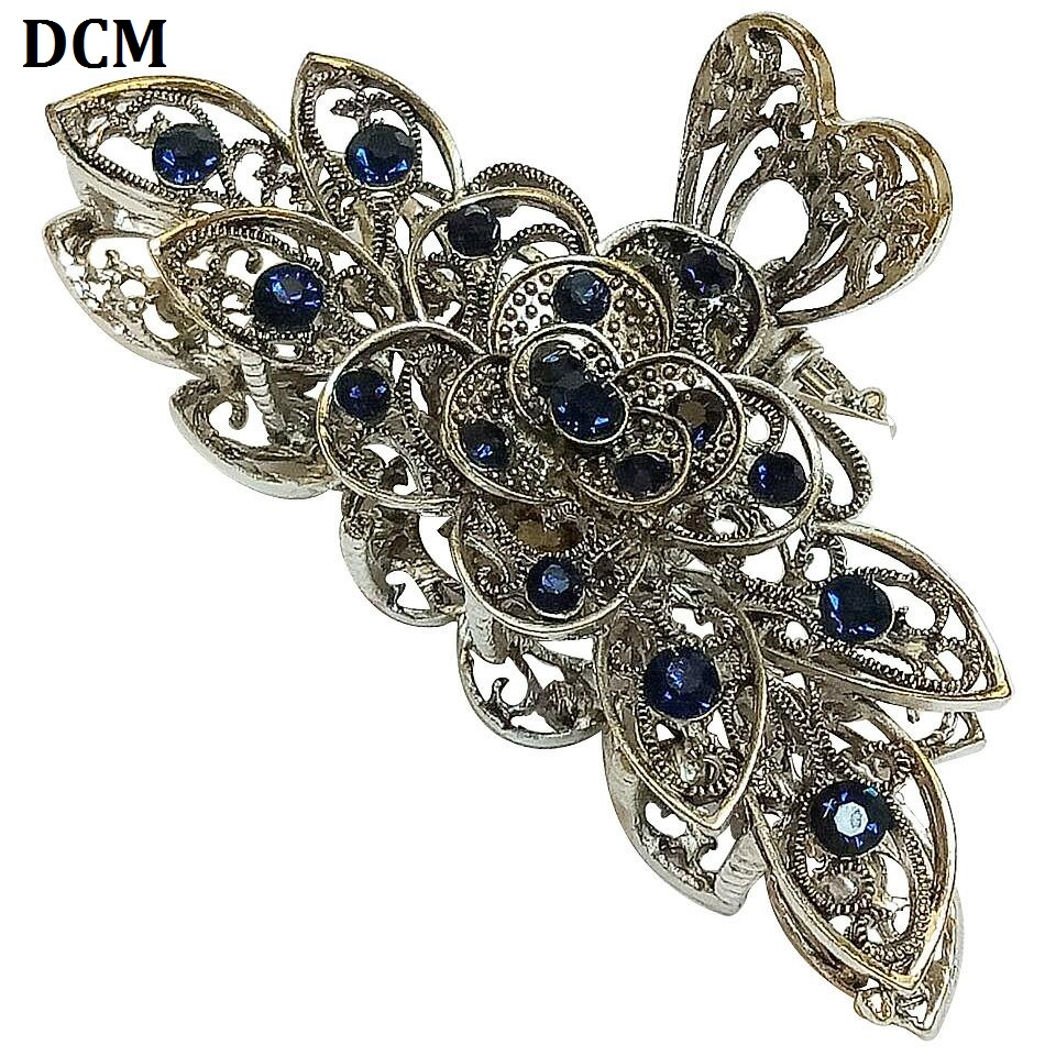 Dcm Blue Crystal Big Size 9cm Hairpins Alloy Hair Claws