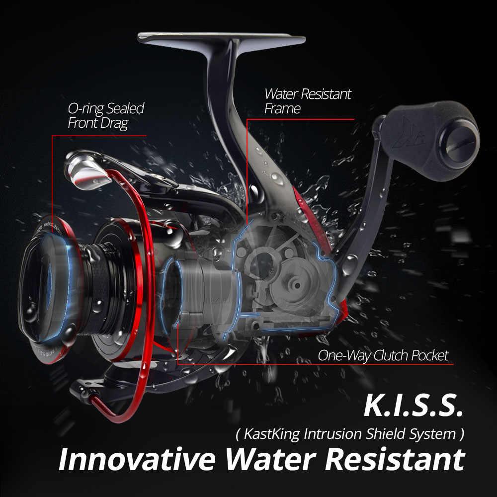 KastKing Sharky III بكرة غزل مقاومة للمياه مبتكرة 18 كجم كحد أقصى قوة السحب الصيد بكرة لصيد السمك باس بايك