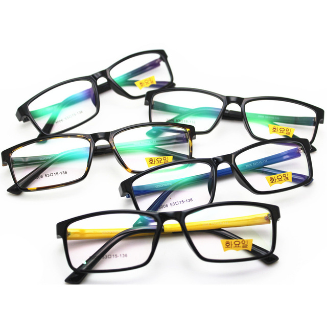 Nuevo Patrón de Moda Supera Luz Tr 90 Gafas de Marco Marea Hombres Y Mujeres Miopía Gafas Marco Óptico para fines Especiales gafas
