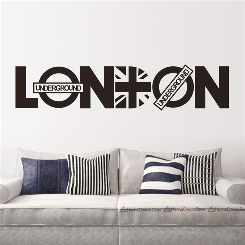 Online Shop London Vinyl Union Jack Art Wall Sticker Home decor
