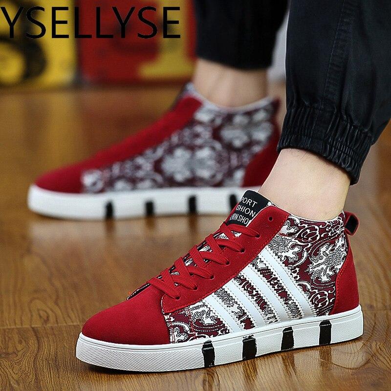 Черный, белый цвет Для мужчин S Обувь обувь на плоской подошве дышащая Zapatillas Hombre с высоким берцем Повседневная парусиновая обувь Для мужчин ...
