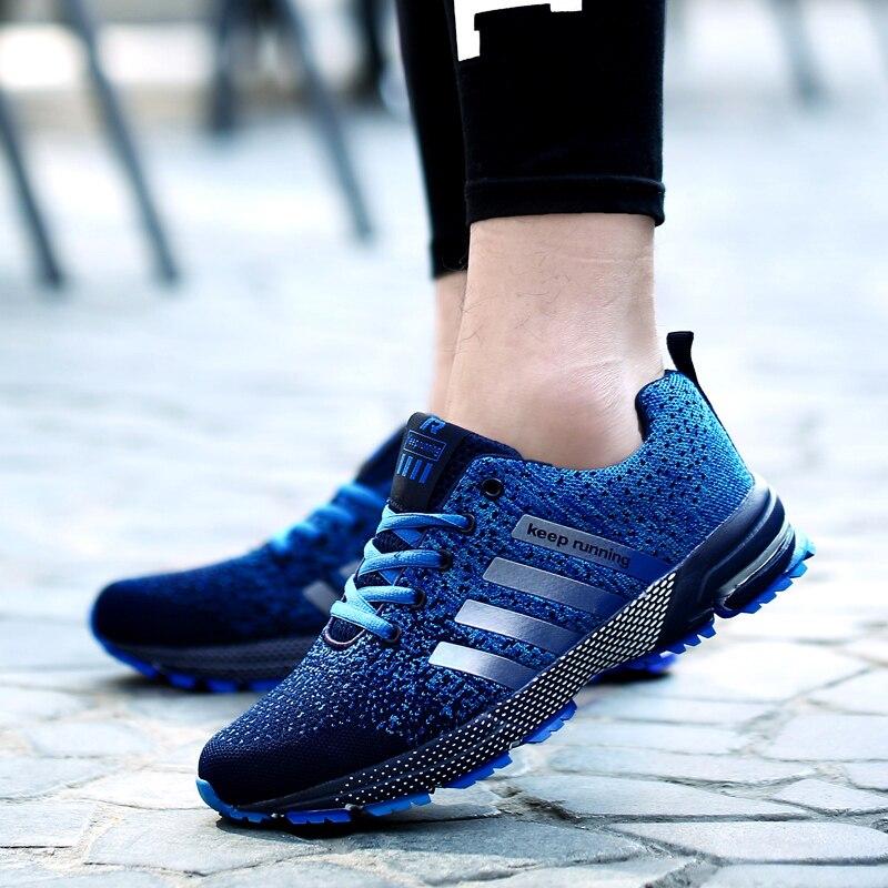 2018 Venta caliente adulto transpirable zapatos deportivos hombres mujeres al aire libre de entrenamiento deportivo zapatos corrientes para hombre zapatilla cómoda