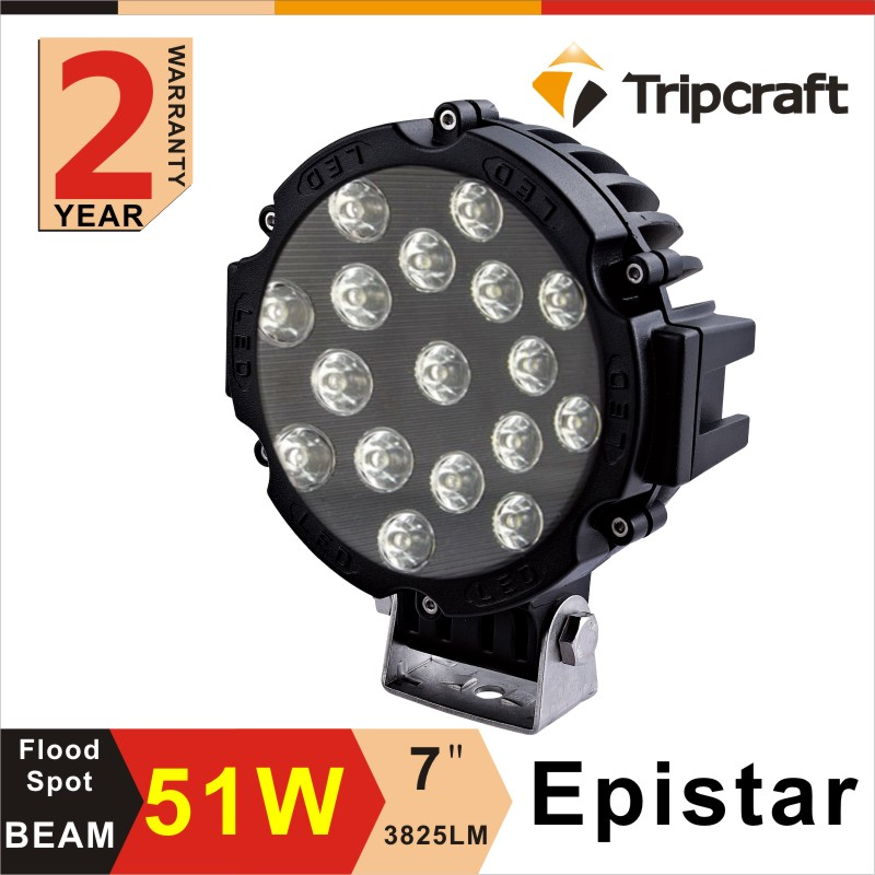 ФОТО Freeshipping!!!2PCS 6 inch 51W LED Work Light Ramp for Motorcycle Tractor Boat Off Road 4WD 4x4 Truck SUV ATV Spot Flood 10v 30v