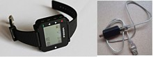 Pocsag watch pager with 1pcs ID programmer cable, text message alpha wrist pager, wireless calling system receiver
