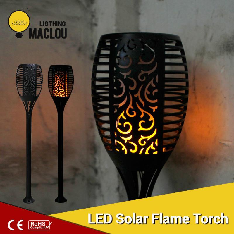 Solar Flame Flickering Garden LED Light IP65 Outdoor Solar Tiki Torch Light Spotlights Landscape Decoration Led