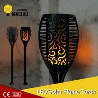 Solar Flame Flickering Garden LED Light IP65 Outdoor Solar Tiki Torch Light Spotlights Landscape Decoration Led