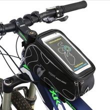 Q160 Free shipping Bicycle Handlebar Bag MTB Bike Cycling Frame Front Tube Bag Bike Package Bags Handlebar Bag 5.5 inch Phone