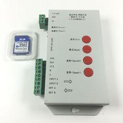 1000 sztuk WS2811 moduł led piksel 12mm IP68 RGB rozproszone adresowalne dla list znak DC5V + T1000S kontroler + 5V 60A zasilacz w Moduły LED od Lampy i oświetlenie na