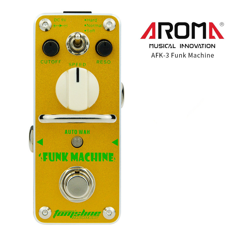 AROMA AFK-3 Guitar Effect Pedal Funk Machine Auto Wah Electric Guitar Effect Pedal Mini Single Effect with True Bypass aroma tom sline abr 3 mini booster electric guitar effect pedal with aluminum alloy housing true bypass durable guitar parts