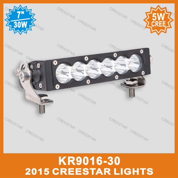 7inch 30W  LED Light Bar Spot Flood Beam Offroad Light 12V 24V For Truck Tractor Trailer Hunting LED Work Light bar 12V Car 35