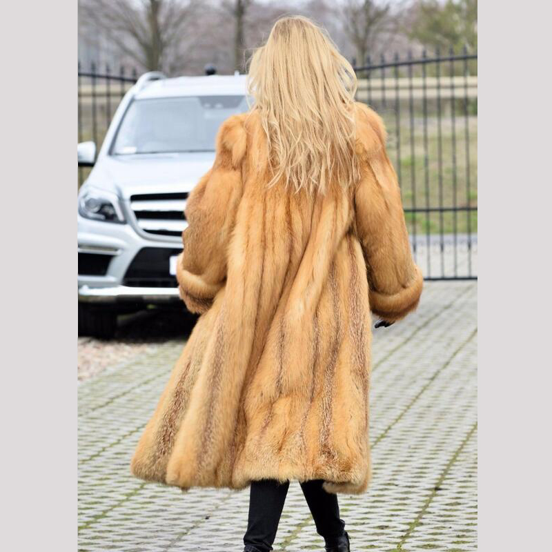 Camel down Réel Fox Veste 2018new Manteau Mode D'hiver Col Long Fc Renard Pleine Avec Red Pelt Turn Longueur Naturelle 078 Fourrure De 1qpn5p7x8