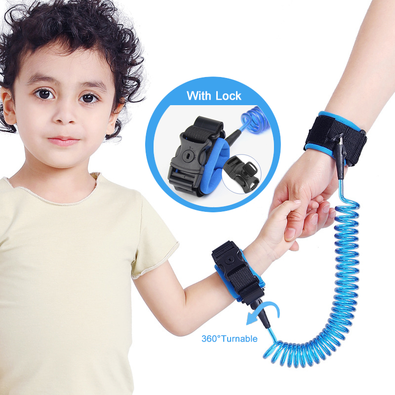 CHILDRENS CHILDS WRIST LINK STRAP SAFETY PINK OR BLUE TODDLER STRAP REIN HARNESS