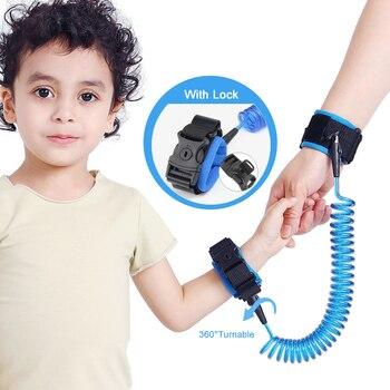 Mejora la muñeca de Antipérdida para niños con bloqueo, pulsera para bebés pequeños, correa para niños, arnés de seguridad, correa para caminar al aire libre, cuerda