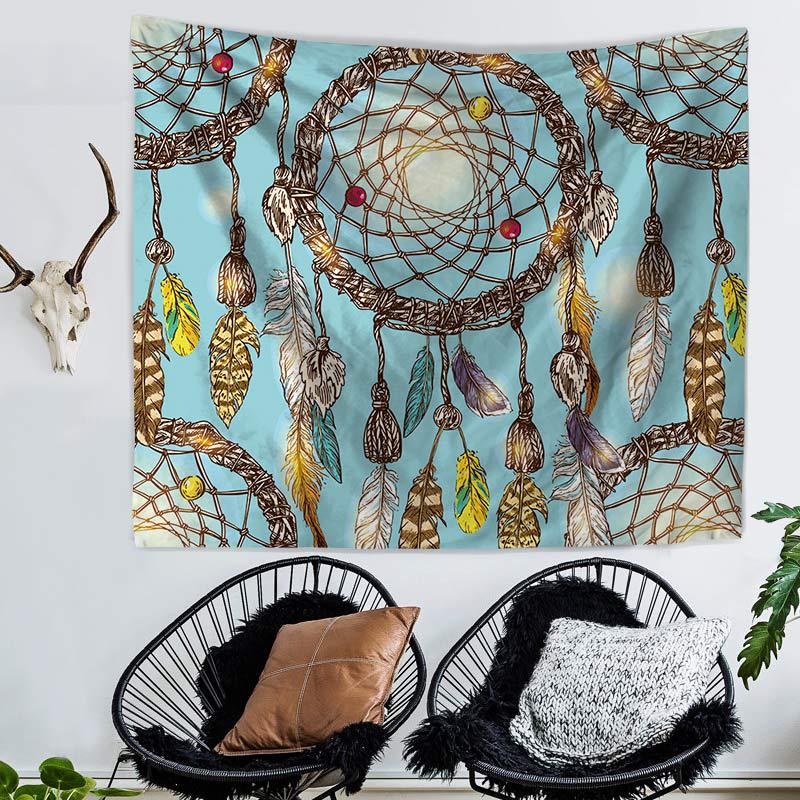 Wall Decoration Watercolor dream catcher home tapestry wall hanging beach towel blanket Sofa backdrop home improvement