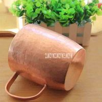 Classic Pure Copper Cup Teacup Mug Handmade Thick Solid Polished High quality Handcrafted Red Copper Mugs Cup With Lid 650ml